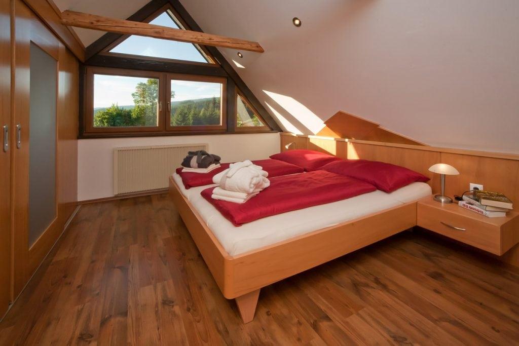 Schlafzimmer der Familie Liegl am Oberwietingberg